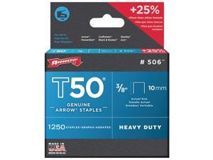 "Arrow Fastener 50624 T50 3/8"" Staples (4 Pack)"