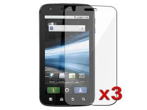 3-Pack Clear LCD Screen Protector Cover Guard Film Shield Cover compatible with Motorola Atrix 4G MB860