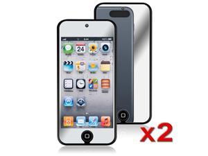 eForCity 2 x Mirror Screen Protector Compatible with Apple® iPod Touch 5 / 5th / 5 th / Gen5 / 5 Gen / 5 Generation