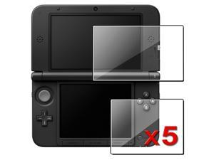 eForCity 5 Packs of Reusable Top+Bottom LCD Covers Compatible With Nintendo 3DS XL