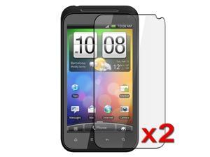 eForCity Compatible with HTC Incredible S 2-Pack Clear Screen Film Protector