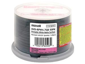 Maxell 635129/638022 Printable Dvd-Rs ,50-Ct Spindle