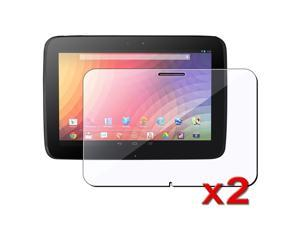 eForCity Clear Reusable Screen Protector compatible with Google Nexus 10, 2-Pack