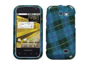 MYBAT Phone Protector Case compatible with Samsung© M920 (Transform), Blue Plaid Weave