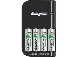 Energizer CH15MNCP4 4-pack AA Ni-MH Rechargeable Batteries & Charger Kit