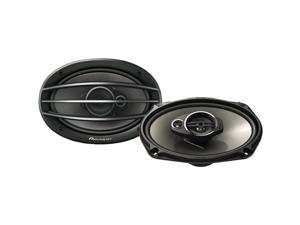 "PIONEER TS-A6964R 6"" x 9"" 3-Way Speakers , Black"