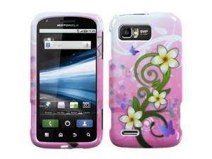 MYBAT Tropical Flowers Phone Protector Faceplate Cover Compatible With MOTOROLA MB865(Atrix 2)