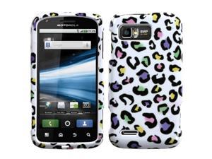 MYBAT Colorful Leopard Phone Protector Cover for MOTOROLA MB865 (Atrix 2)