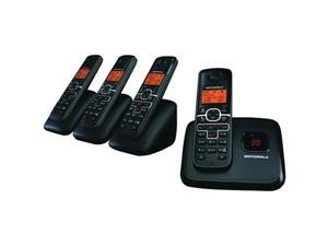 Motorola L704M Dect 6.0 Cordless Phone System With Caller Id, Digital Answering System & Speakerphone (4-Handset System With ...