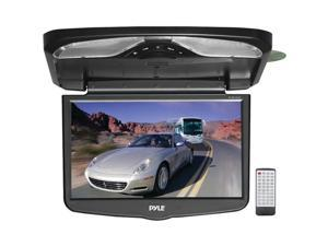 Pyle - 16.4'' TFT LCD Flip-Down Roof Mount w/ Built In DVD/SD/USB Player w/ Wireless FM Modulator/ IR Transmitter