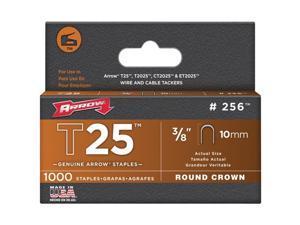 Arrow Fastener 256 T25 3/8 Inch (10mm) Staples, 1000/Pk