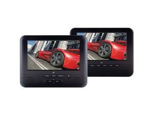 "GPX 7"" Dual Screen Portable DVD Player"
