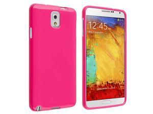 Samsung Galaxy Note III N9000 TPU Case , Hot Pink Jelly
