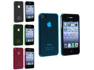 eForCity 4 Slim Hard Case Cover Skin For iPhone 4S 4G 4th Gen USA Accessory Bundle Pack