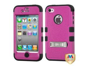 MYBAT iPhone 4S/4 Case Cover - Natural Hot Pink/Black TUFF Hybrid Phone Protector Cover (with Stand) For Apple iPhone 4S/4