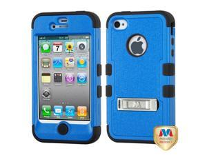 MYBAT iPhone 4S/4 Case Cover - Natural Dark Blue/Black TUFF Hybrid Phone Protector Cover (with Stand) For Apple iPhone 4S/4
