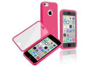 Apple iPhone 5C Book TPU Case , Hot Pink/Clear Frosted Cover