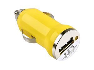 eForCity Universal USB Mini Car Charger Adapter, Yellow