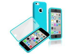 Apple iPhone 5C Book TPU Case , Blue/Clear Frosted Cover