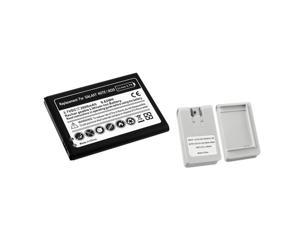 eForCity White Battery Charger+Li-ion Battery Compatible With Samsung© Galaxy Note N7000