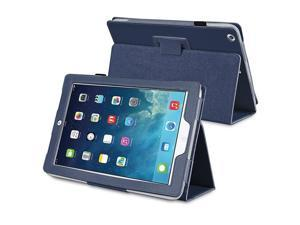 eForCity Stand Leather Case compatible with Apple iPad Air, Navy Blue