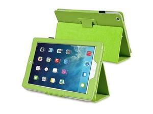 eForCity Stand Leather Case compatible with Apple iPad Air, Green