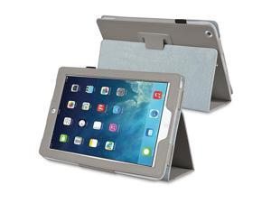 eForCity Stand Leather Case compatible with Apple iPad Air, Gray