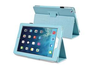 eForCity Stand Leather Case compatible with Apple iPad Air, Light Blue