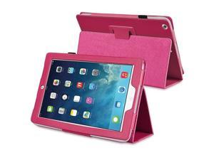 eForCity Stand Leather Case compatible with Apple iPad Air, Hot Pink