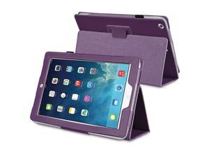 eForCity Stand Leather Case compatible with Apple iPad Air, Purple