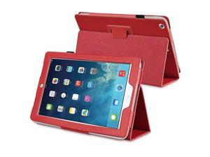 eForCity Stand Leather Case compatible with Apple iPad Air, Red