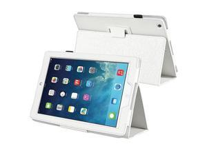 eForCity Stand Leather Case compatible with Apple iPad Air, White
