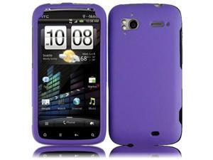 HRW Hard Rubberized Phone Case Cover Compatible With HTC Sensation 4G , Dark Purple
