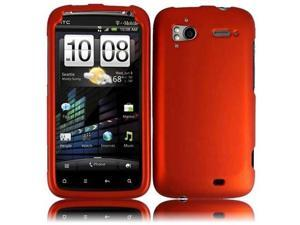 HRW Hard Rubberized Phone Case Cover Compatible With HTC Sensation 4G , Orange