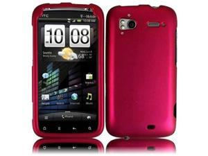 HRW Hard Rubberized Phone Case Cover Compatible With HTC Sensation 4G , Rosepink