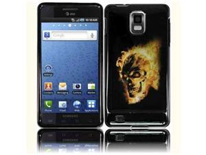 HRW Design Phone Case Cover Compatible With Samsung© i997 Infuse 4G , Fire Skull