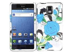 HRW Design Phone Case Cover Compatible With Samsung© i997 Infuse 4G , Turqoise Flower