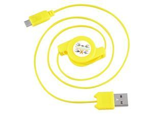 eForCity Micro USB 2-in-1 Retractable Cable , Yellow