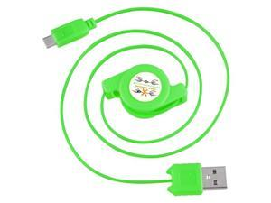 eForCity Micro USB 2-in-1 Retractable Cable , Green