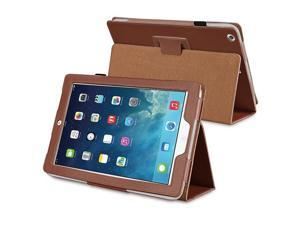 eForCity Stand Leather Case Compatible With iPad Air / iPad 5, Brown