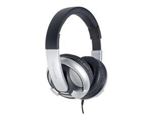 SYBA Oblanc UFO200 Over-Ear Stereo Headphones with In-line Mic & Call Control, Silver OG-AUD63044