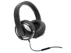 SYBA Oblanc UFO210 Over-Ear Dual Driver Amplified Stereo Headphones with In-line Mic, Black OG-AUD63051