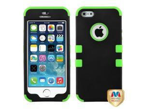 MYBAT Rubberized Black/Electric Green TUFF Hybrid Phone Protector Cover Compatible With Apple iPhone 5/ iPhone 5s