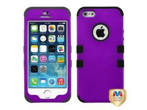 MYBAT Rubberized Grape/Black TUFF Hybrid Phone Protector Cover Compatible With Apple iPhone 5/ iPhone 5s
