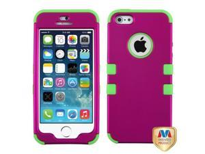 MYBAT Titanium Solid Hot Pink/Electric Green TUFF Hybrid Phone Protector Case compatible with APPLE iPhone 5s, iPhone 5