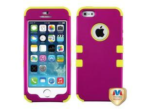 MYBAT Titanium Solid Hot Pink/Yellow TUFF Hybrid Phone Protector Case compatible with APPLE iPhone 5s, iPhone 5