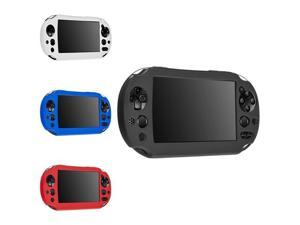 eForCity 4-Pack Silicone Skin Controller Case Combo: Black/White/Blue/Red Compatible with Sony PlayStation Vita 2000 Controller