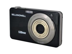 BELL+HOWELL S30HDZ-BK 15.0 Megapixel S30HDZ Slim Digital Camera with 5x Optical Zoom ,Black