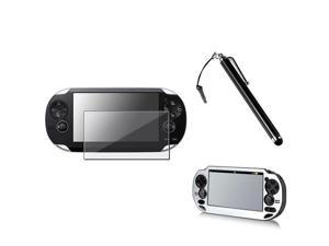 eForCity Silver Aluminum Case Cover + Black Stylus Pen + Screen Protector Compatible With Sony PS Vita