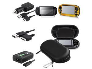 eForCity 6in1 Black EVA Case Cover + Film Protector + Gold Aluminum Case Cover + USB Cable + Adapter + Screen Protector + ...